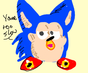 Sonic is a furby