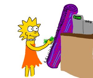 Lisa buying a Carpet