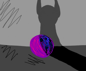 scary shadow haunting bowling ball