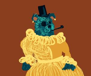 Fancy bear in a fancy dress