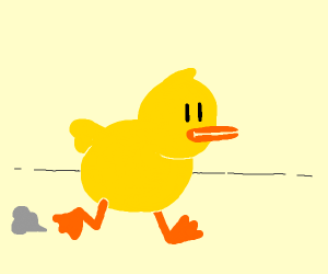 And the duck waddled away