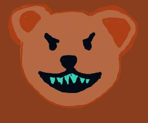 bear with radioactive teeth