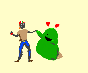 Green ditto loves u