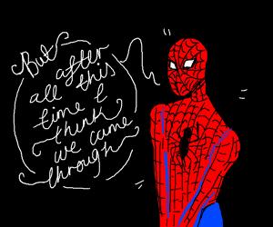 Spiderman giving a motivational speech