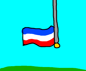 netherland's flag upside down