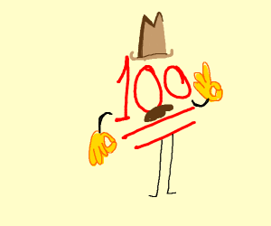 100 this is so lit, who did dis, pardner?
