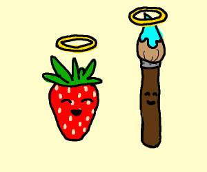 Angelic Strawberry And Angelic Paintbrush