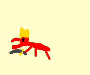Ant king warrior