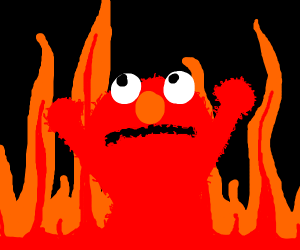 Elmo Hell Meme Drawception