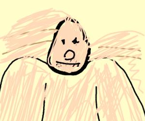 sad gorila
