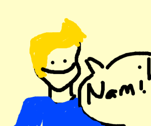 weird blonde guy saying Nami!
