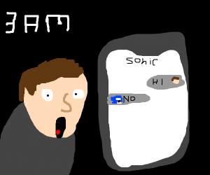 Texting sonic at 3 am