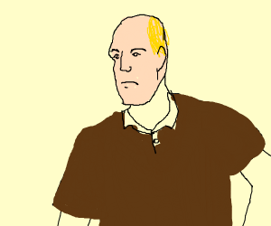 realistic man in brown shirt