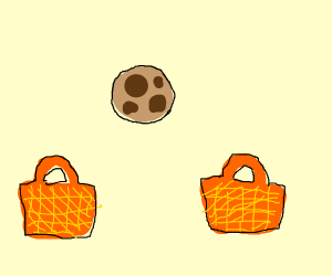 One cookie two baskets