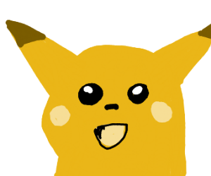 pikachu realising what he missed out in life
