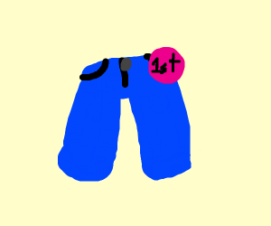 blue pants gets first place