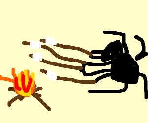 Spider roasting marshmellows