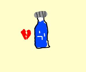 Heartbroken water bottle