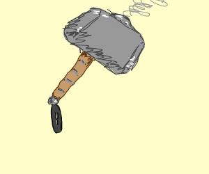 Thor's hammer in a tornado