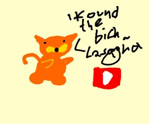 Garfield found the lasagna serum
