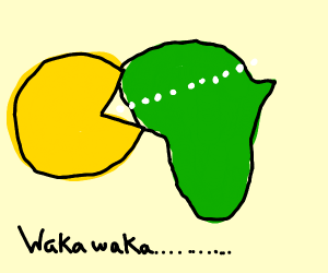 pacman consumes africa