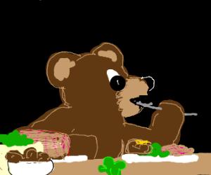 Bear celebrates the Feast of Saint Patrick