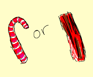 This that candy cane or bacon