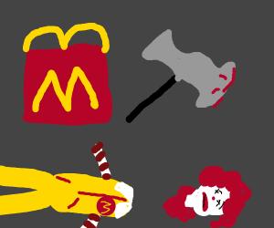 Happy Meal beheaded Ronald McDonald