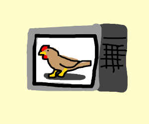 chicken in a microwave oven