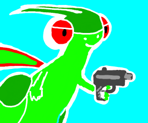 Flygon has a gun! It's Fly-Gun!