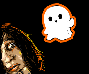 A friendly ghost scares a girl