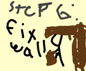 step 5: enter thru the wall like kool aid man