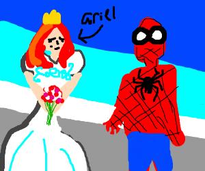 Spiderman marries disney princess