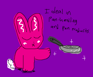 Panhandling rabbit
