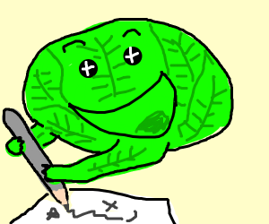 Celery is really happy to draw