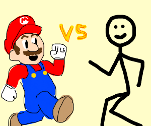 Mario VS a stickman boi