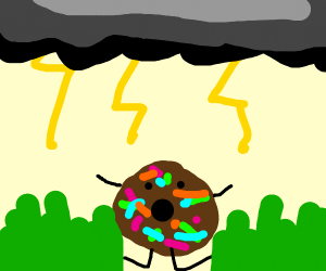 Donut in a Thunderstorm