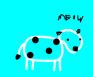 Cow goes meow