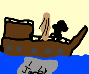 Accidentally drop illegal sails in the ocean