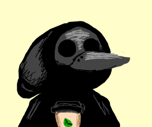 Plague doctor in 2019