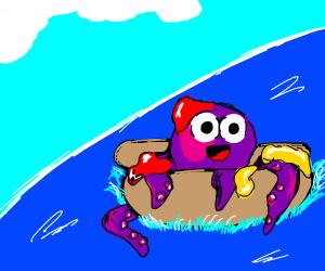 octopus wants to be like hotdog
