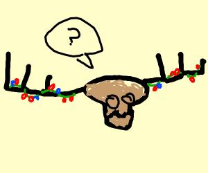 Confused santa reindeer