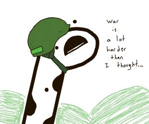 Giraffe Thinks Nam War Is Difficult