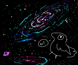 You have been visited by the space birb!