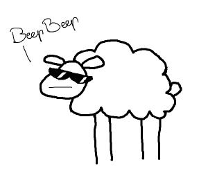 a sheep wearing sunglasses