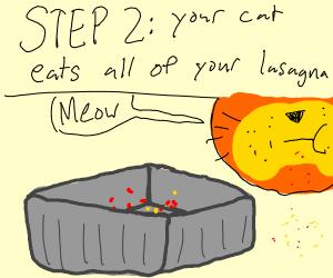 Step 1: make lasagna