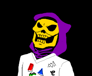Skeletor With 80s Apparel