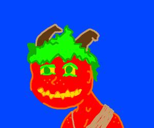 red-skinned green-haired horned devil thing