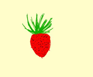 A strawberry that looks like a pineapple