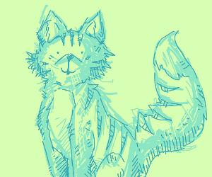 A sketch of a big cat